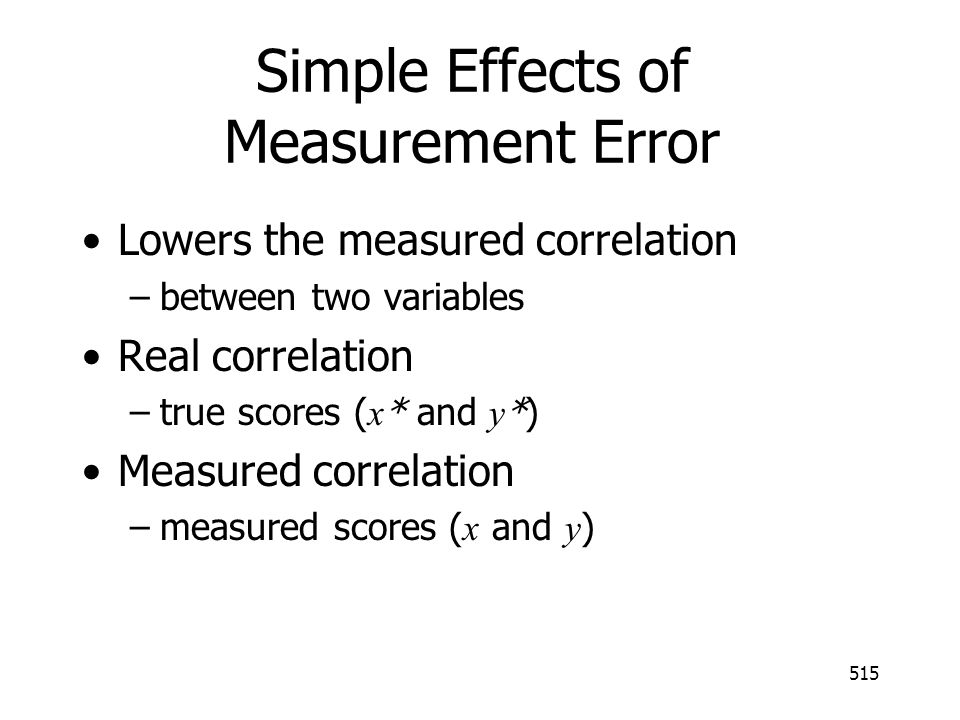 Simple Effects of Measurement Error
