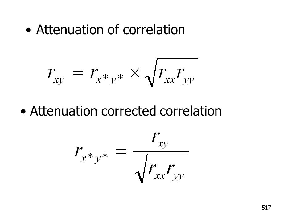 Attenuation of correlation