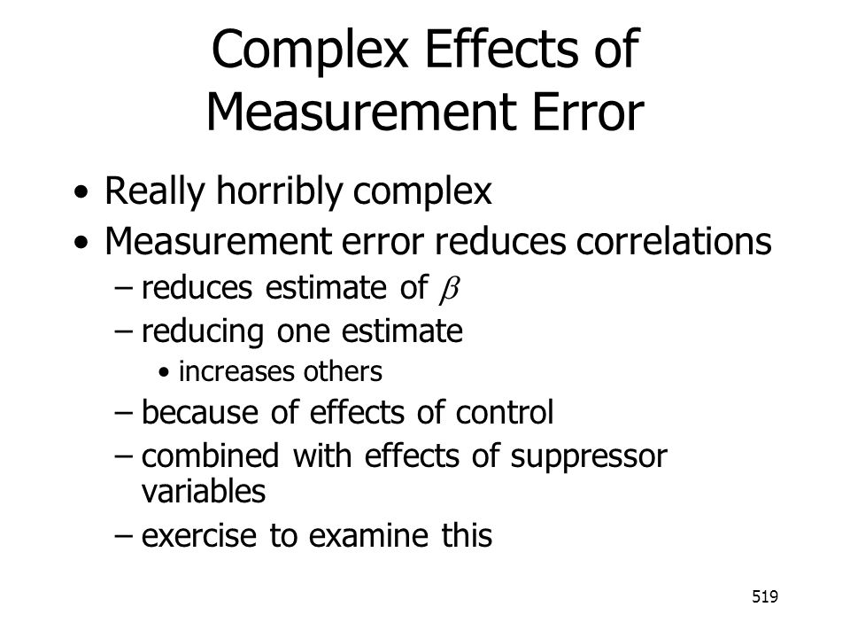 Complex Effects of Measurement Error