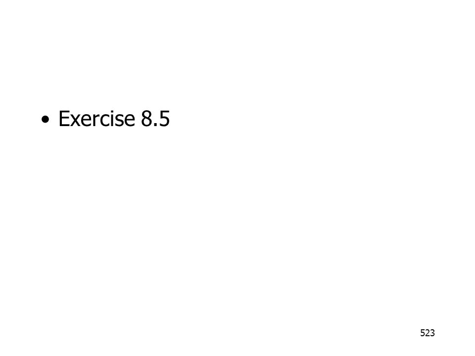 Exercise 8.5