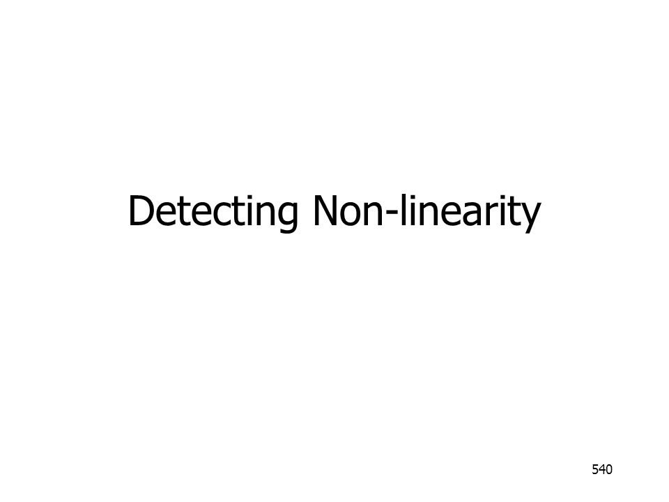 Detecting Non-linearity