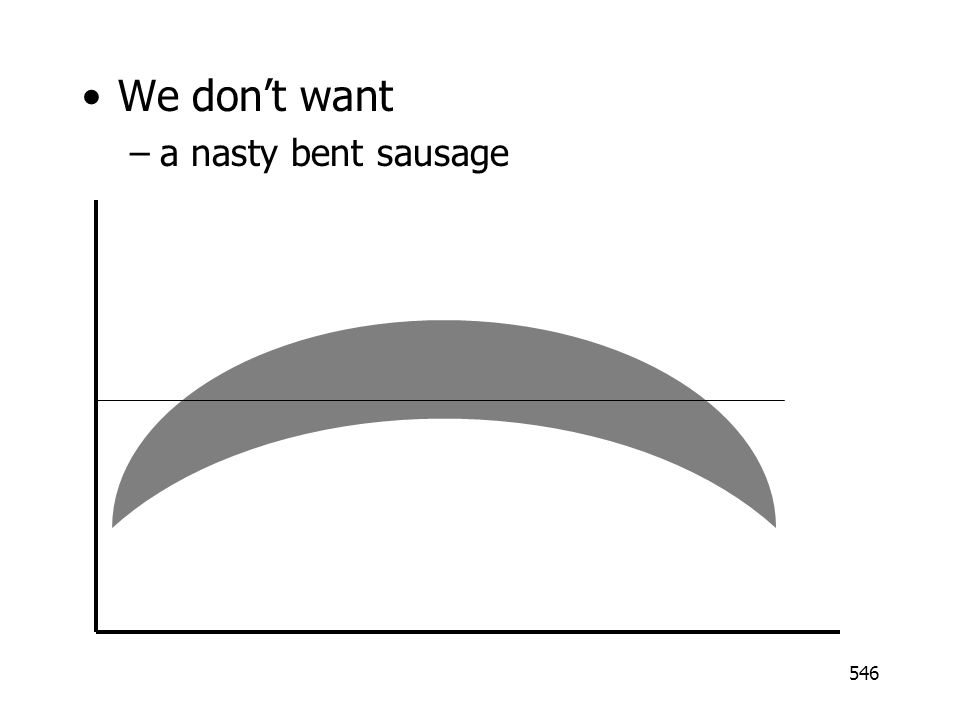 We don't want a nasty bent sausage