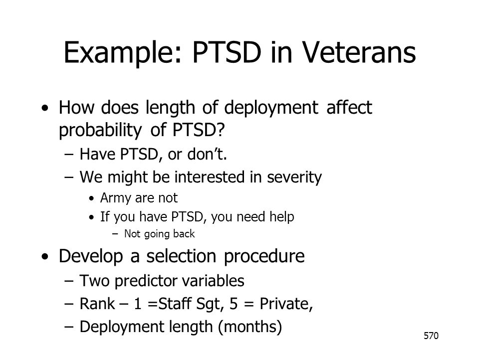 Example: PTSD in Veterans
