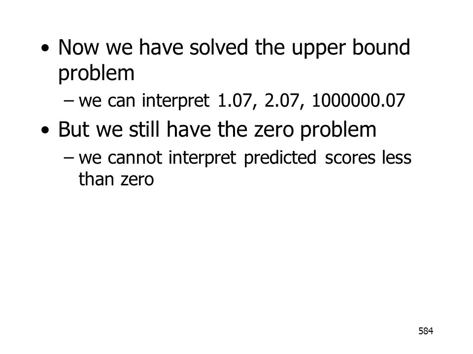 Now we have solved the upper bound problem