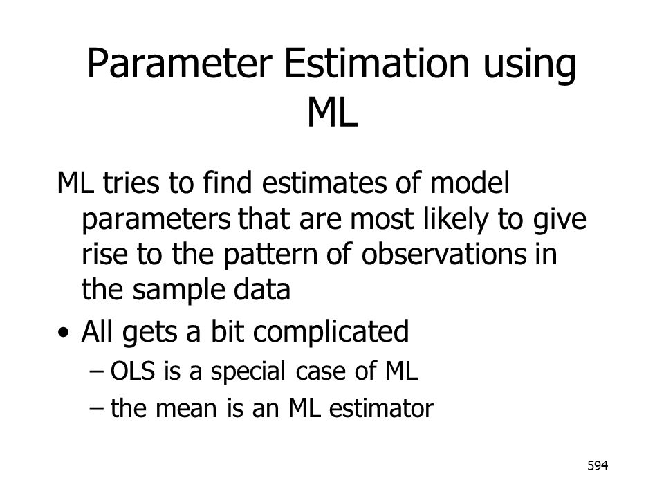 Parameter Estimation using ML