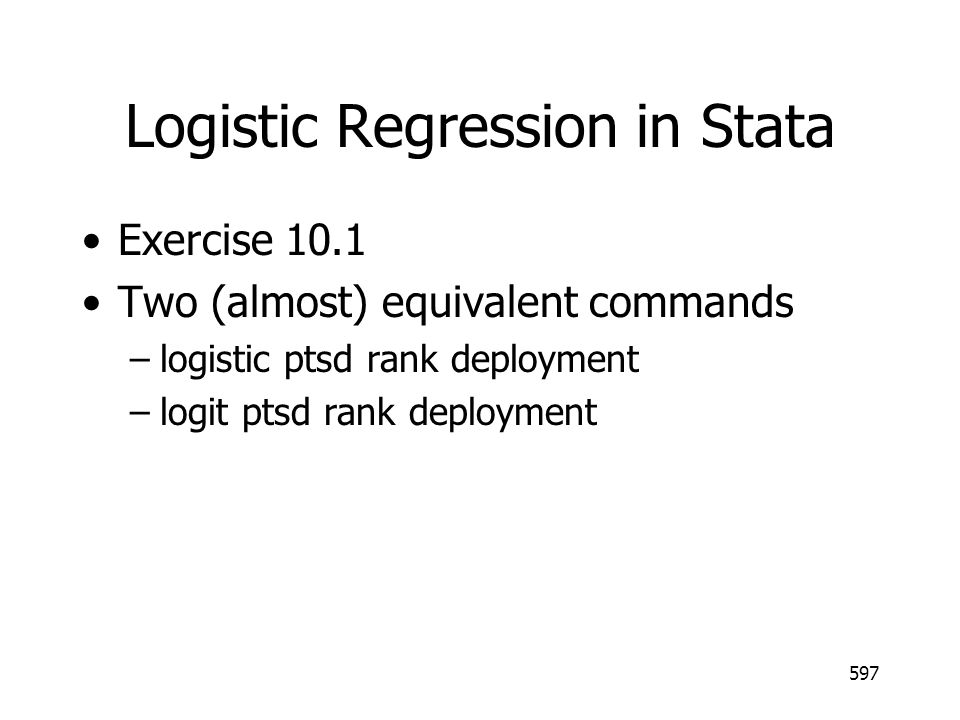 Logistic Regression in Stata