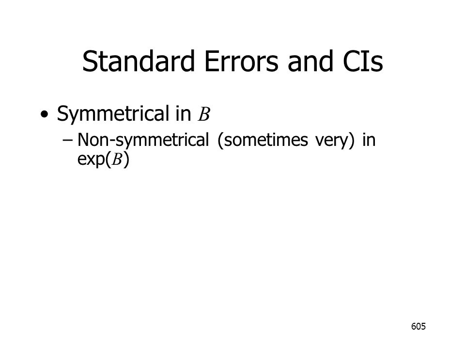 Standard Errors and CIs
