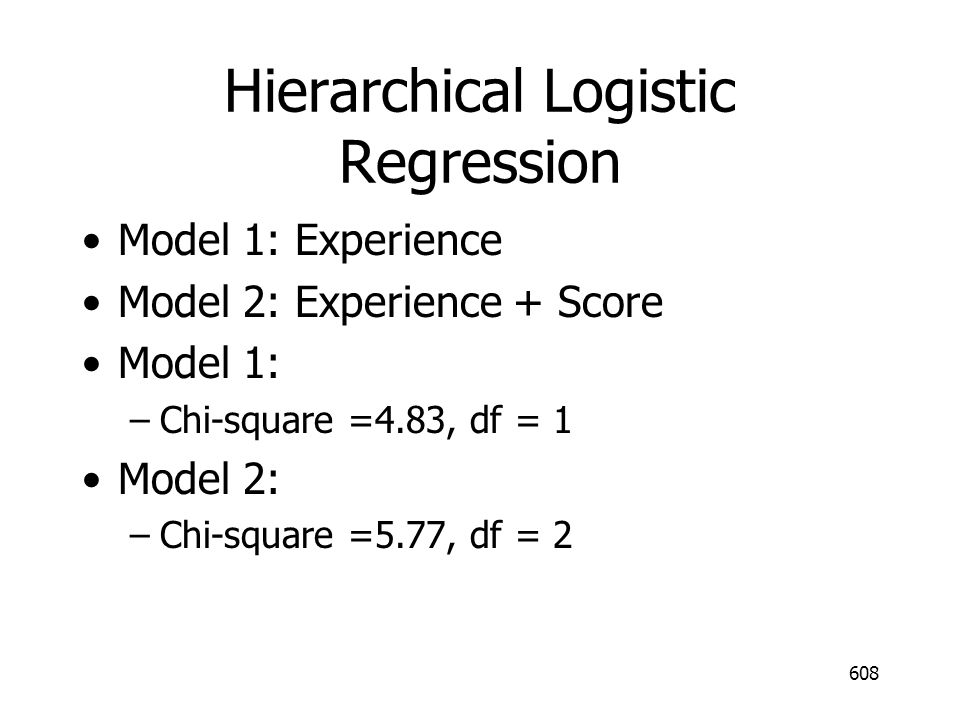 Hierarchical Logistic Regression