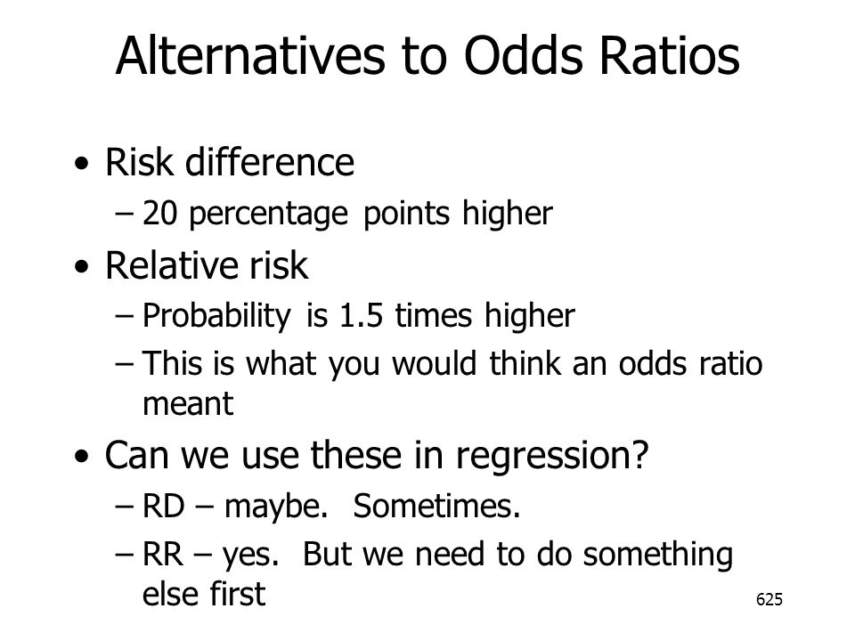 Alternatives to Odds Ratios
