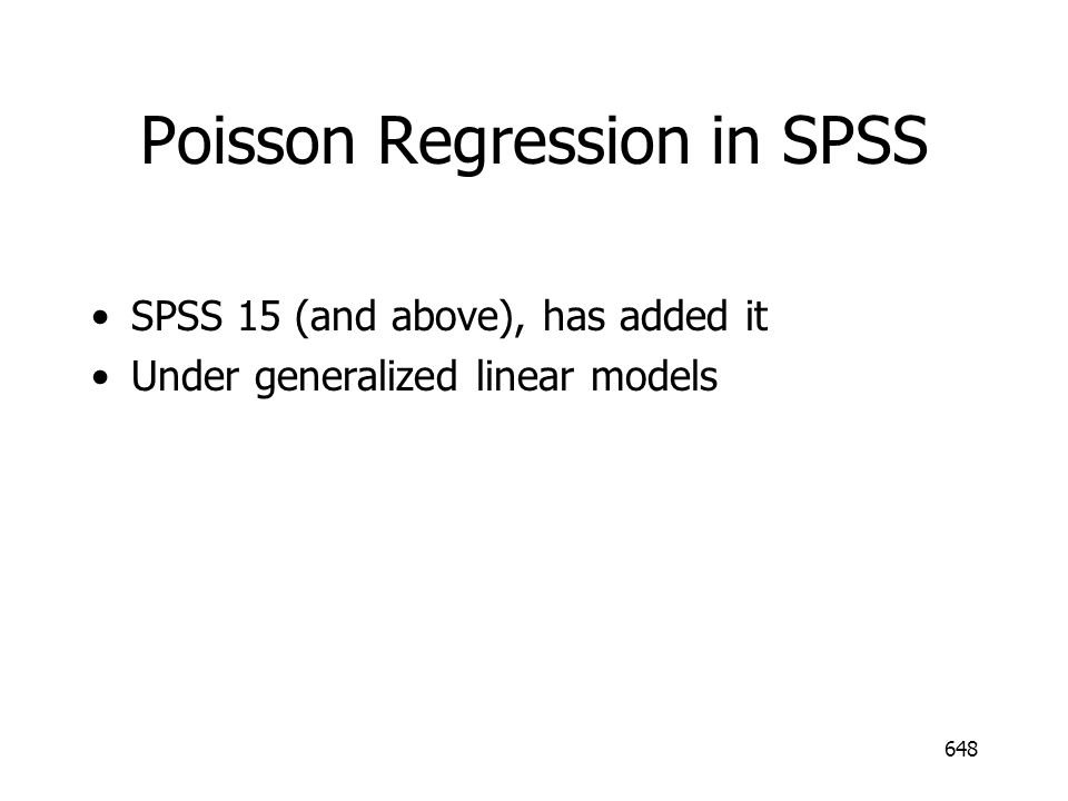 Poisson Regression in SPSS