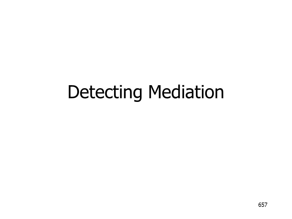 Detecting Mediation