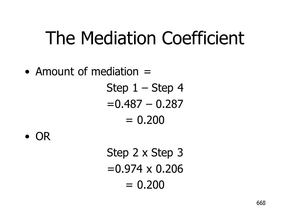 The Mediation Coefficient
