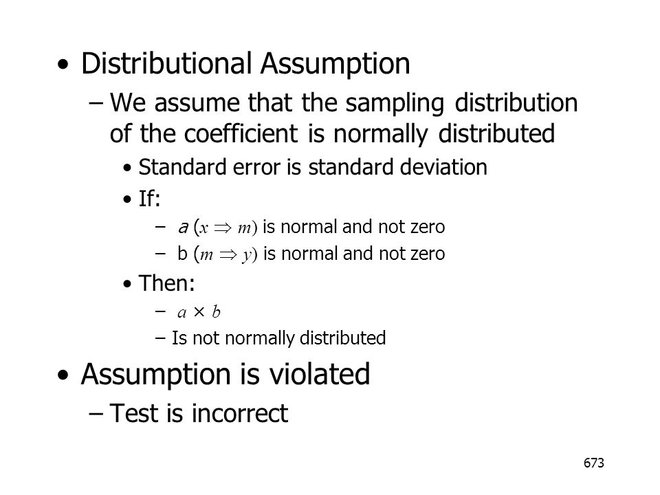 Distributional Assumption