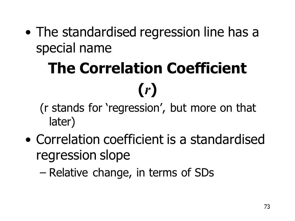 The Correlation Coefficient