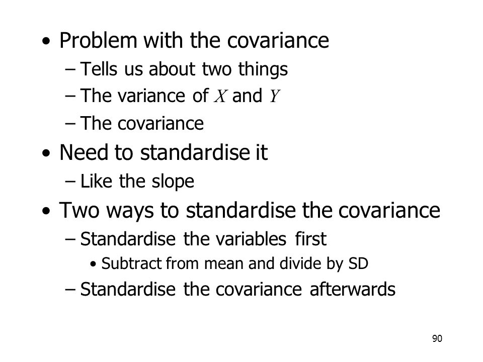 Problem with the covariance
