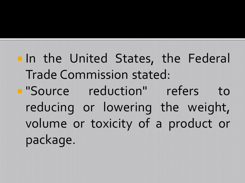 In the United States, the Federal Trade Commission stated: