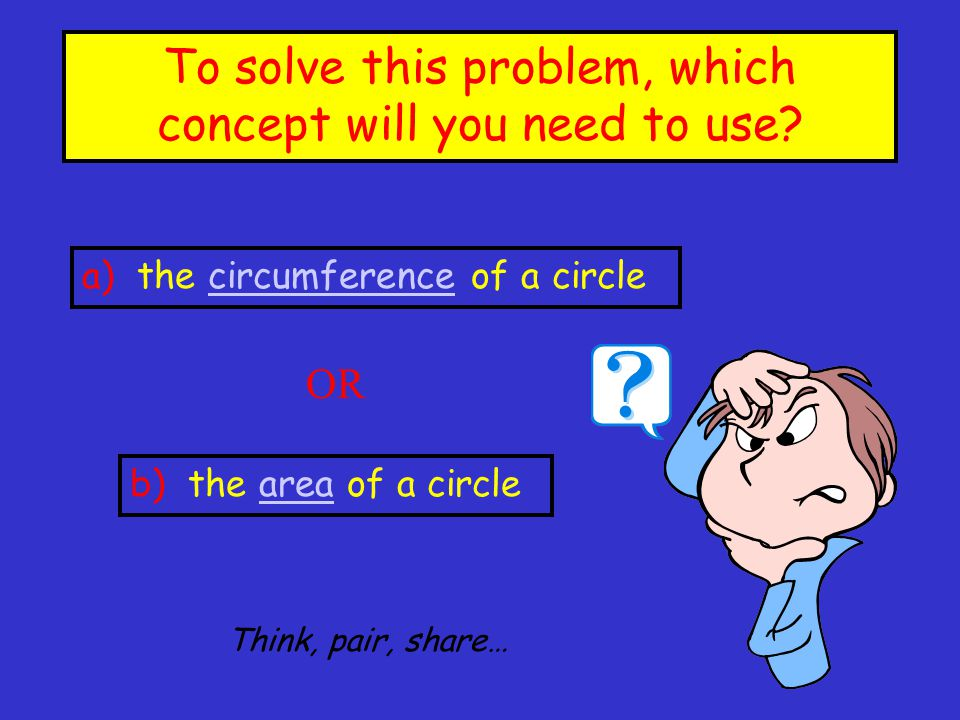 To solve this problem, which concept will you need to use