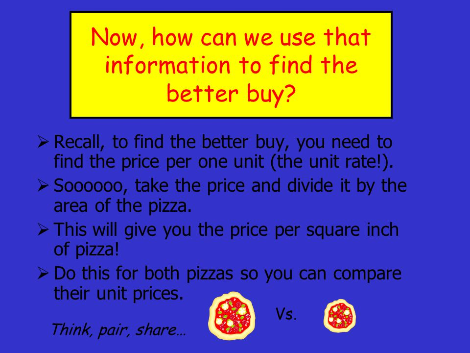 Now, how can we use that information to find the better buy