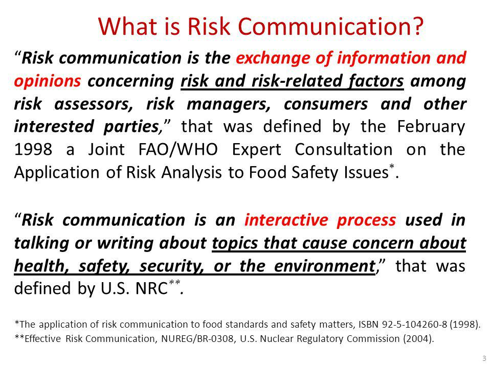 What is Risk Communication