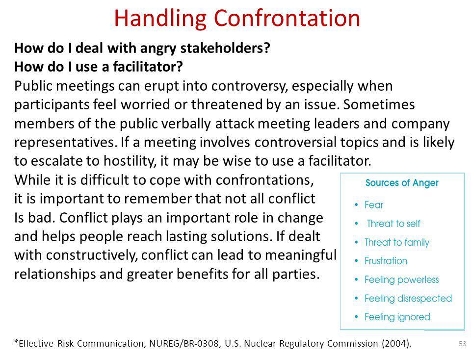 Handling Confrontation