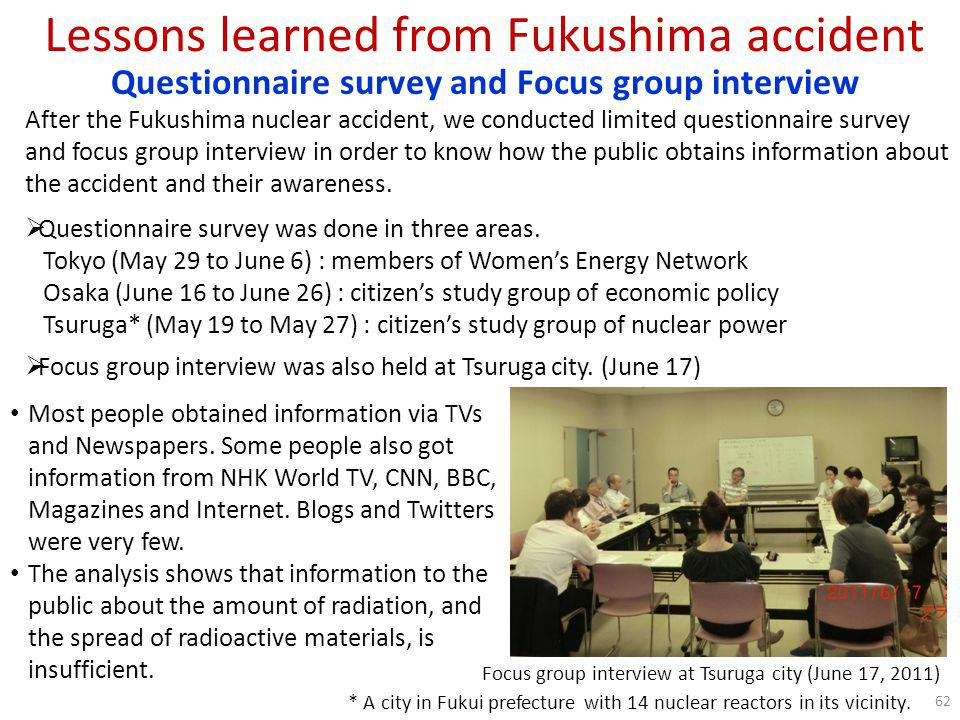 Lessons learned from Fukushima accident