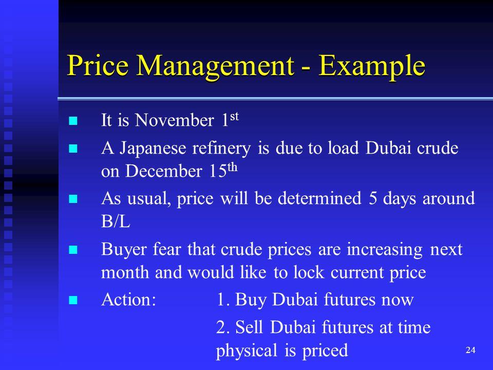 Price Management - Example