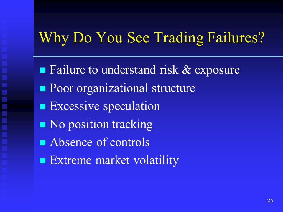Why Do You See Trading Failures