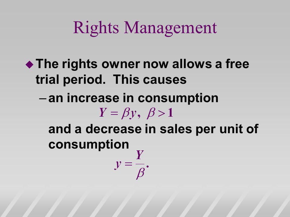 Rights Management The rights owner now allows a free trial period. This causes.