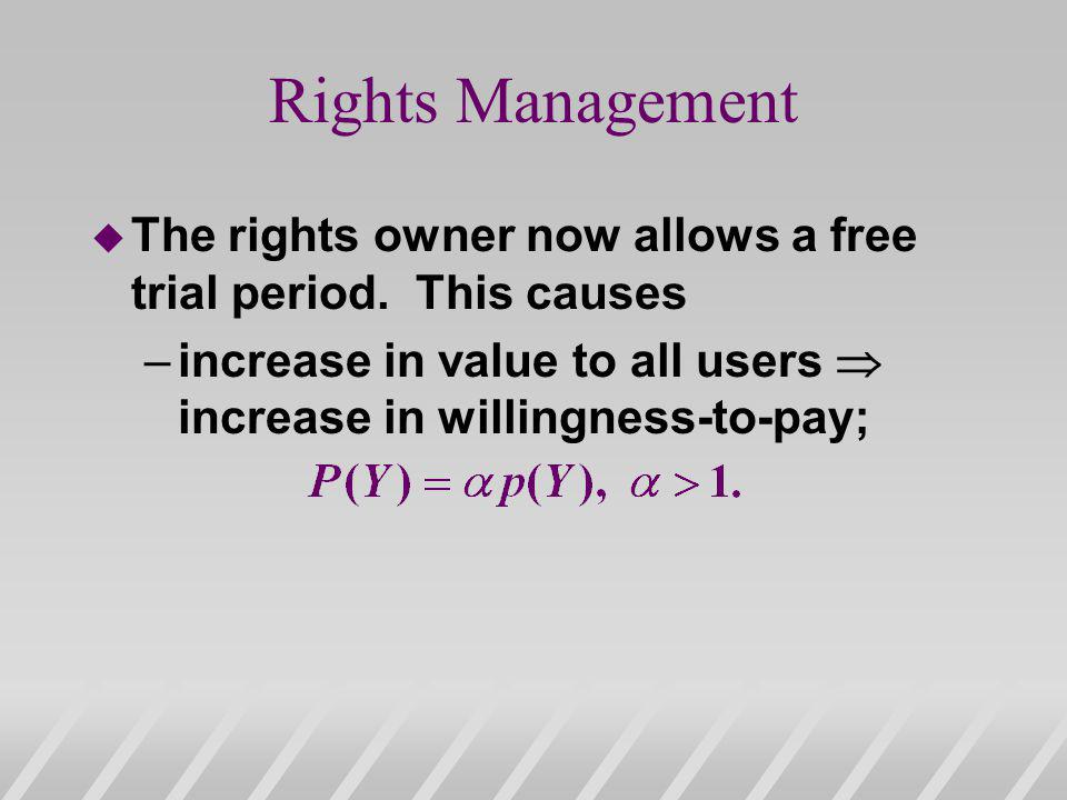 Rights Management The rights owner now allows a free trial period.