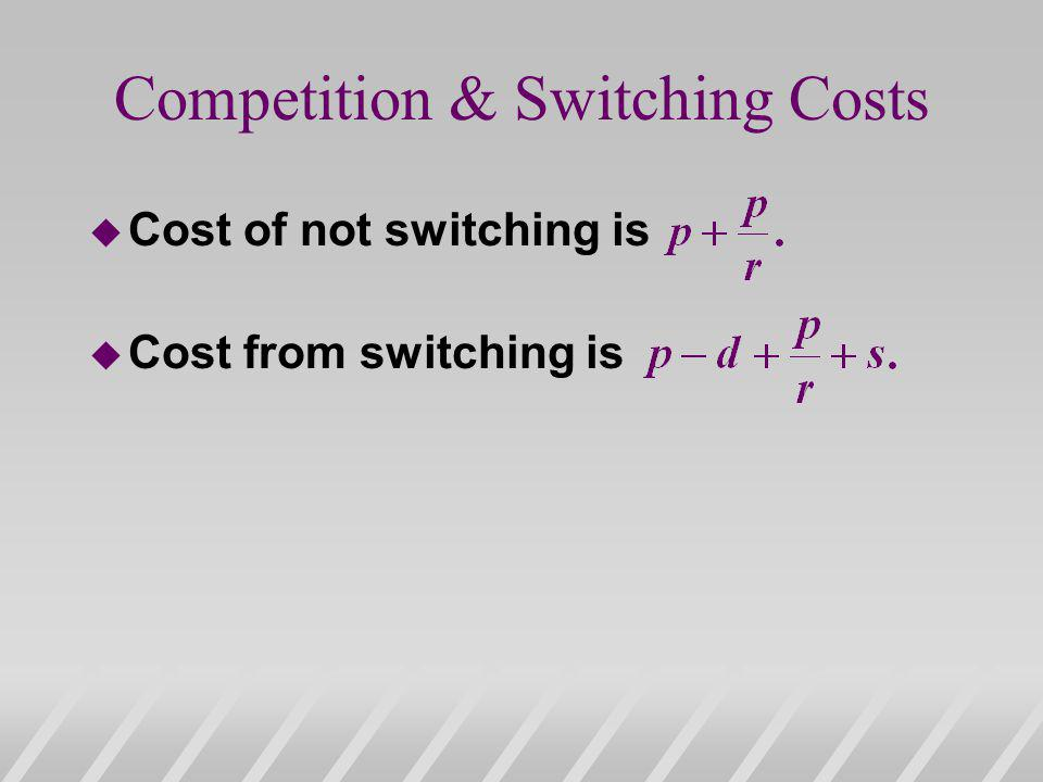 Competition & Switching Costs