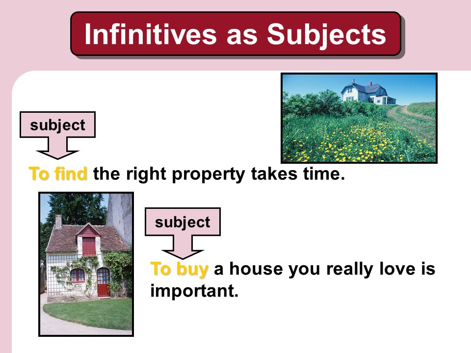 Infinitives as Subjects