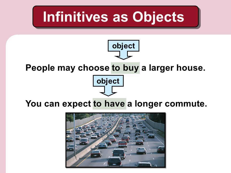 Infinitives as Objects