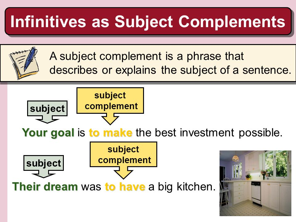 Infinitives as Subject Complements