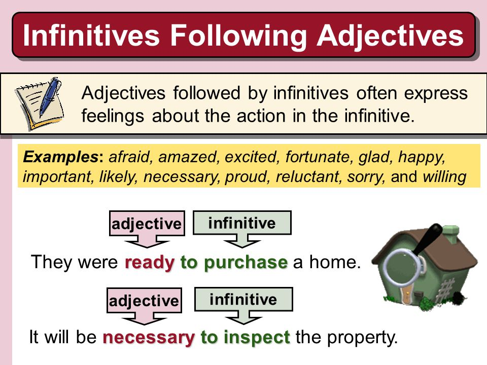 Infinitives Following Adjectives