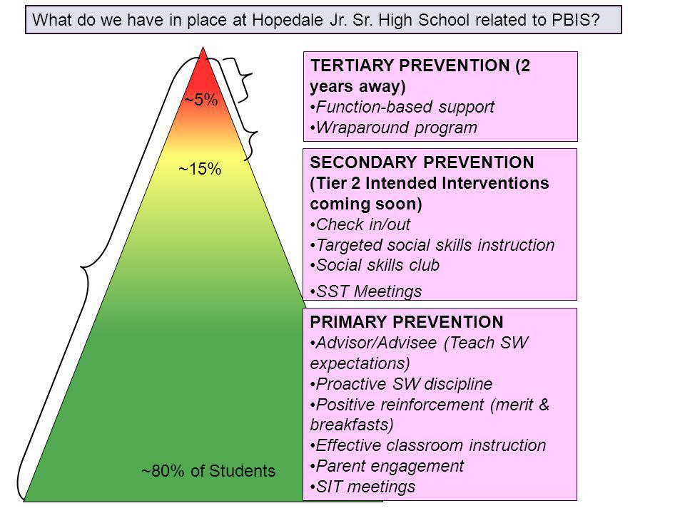 TERTIARY PREVENTION (2 years away) Function-based support