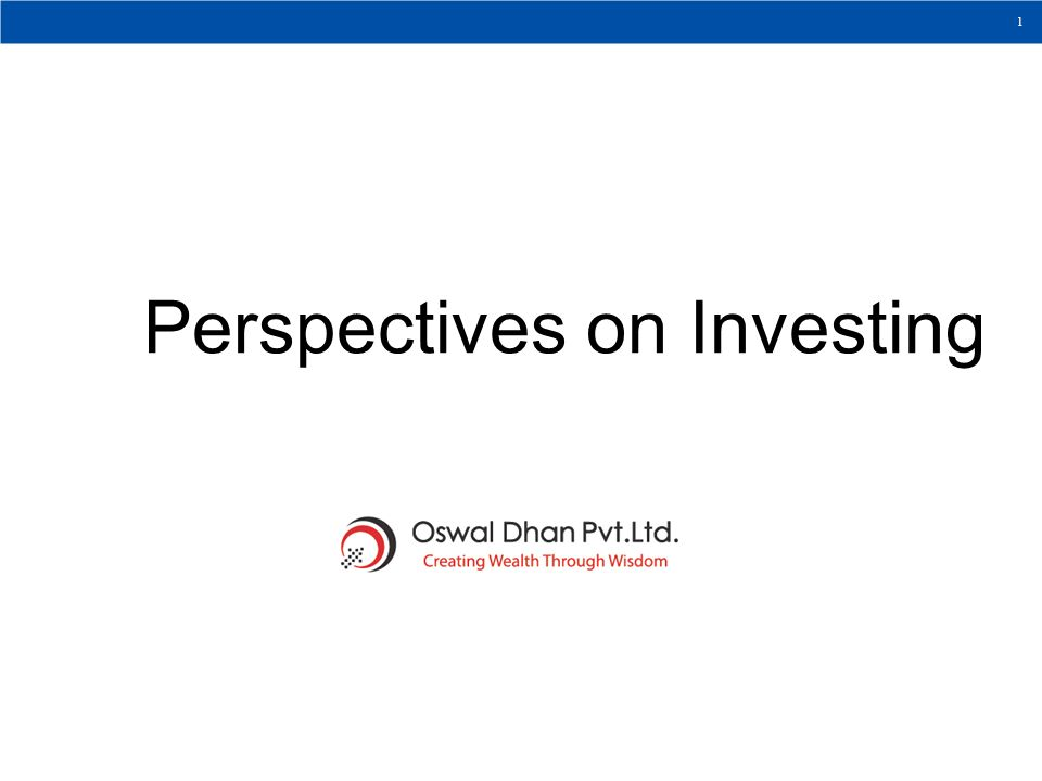 Perspectives on Investing
