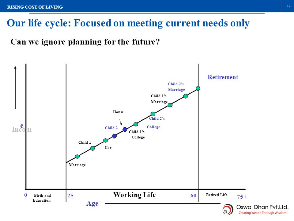 Our life cycle: Focused on meeting current needs only