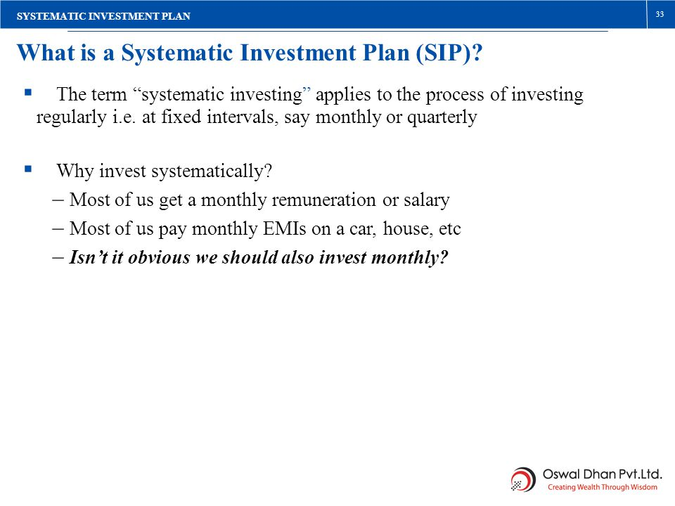What is a Systematic Investment Plan (SIP)