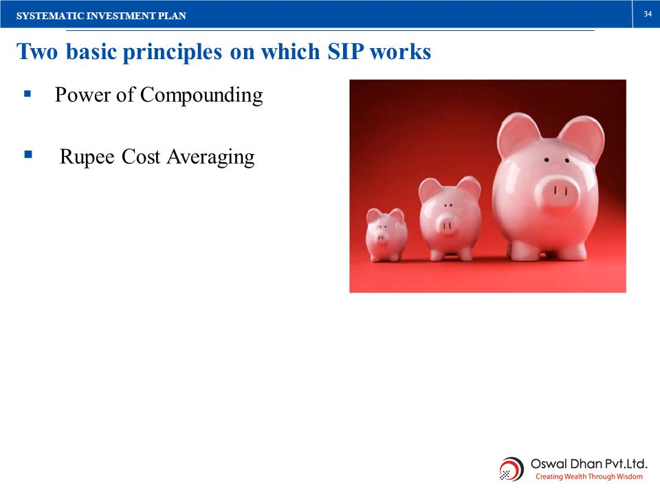  Rupee Cost Averaging Two basic principles on which SIP works