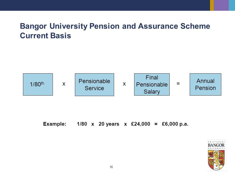 Bangor University Pension and Assurance Scheme Current Basis