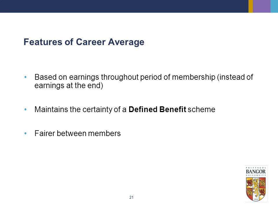 Features of Career Average