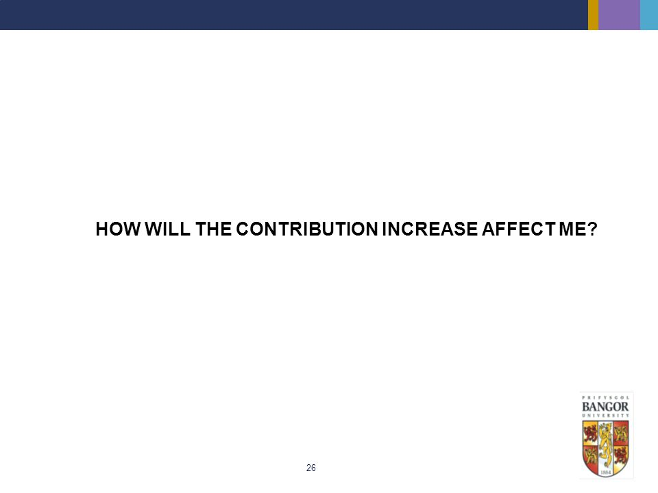 HOW WILL THE CONTRIBUTION INCREASE AFFECT ME