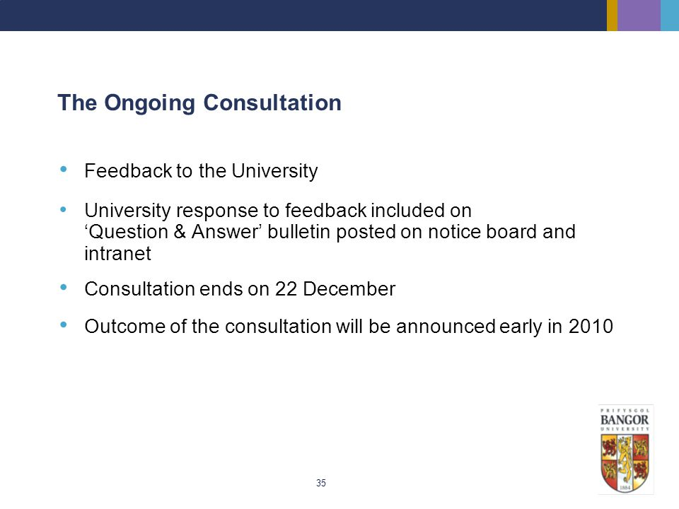 The Ongoing Consultation
