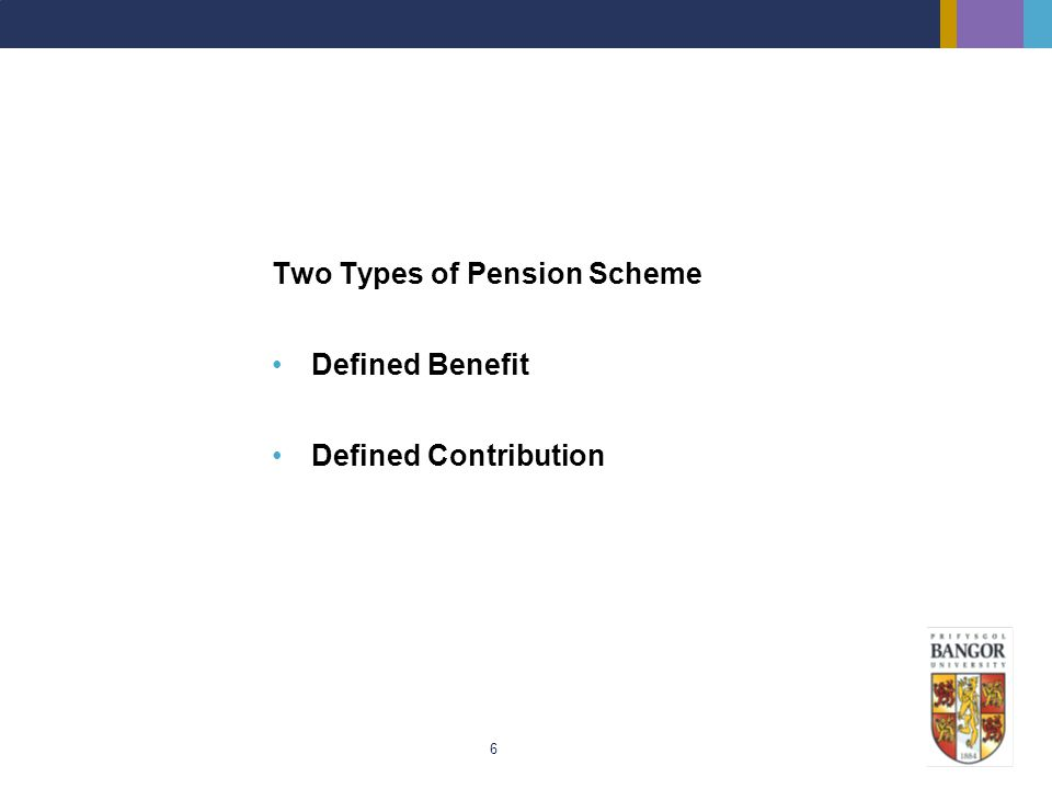 Two Types of Pension Scheme