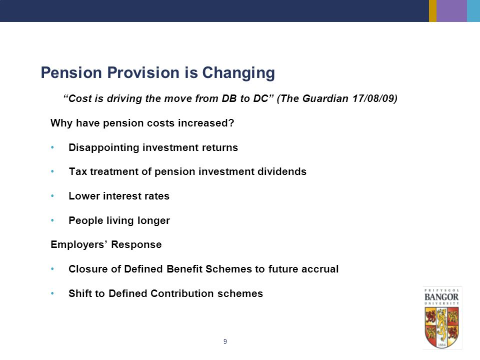 Pension Provision is Changing