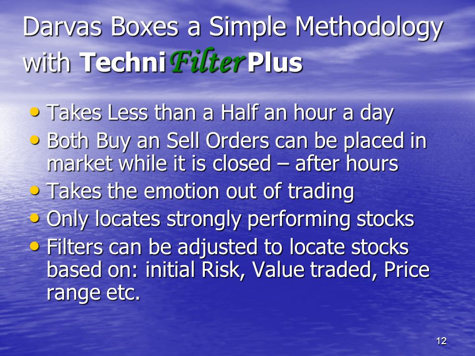 Darvas Boxes a Simple Methodology with TechniFilter Plus