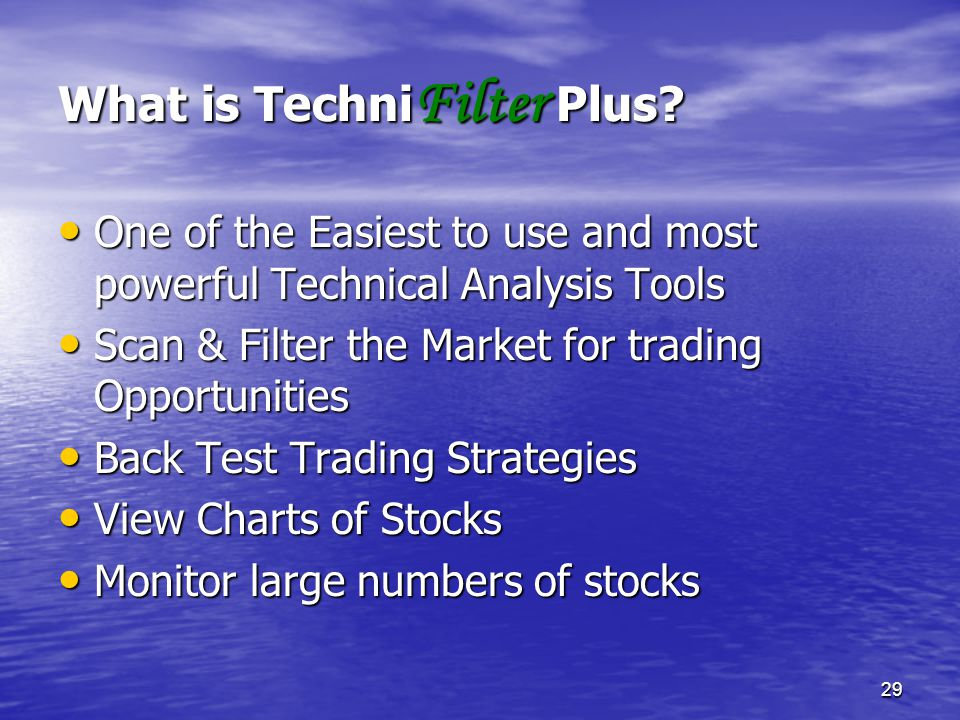 What is TechniFilter Plus