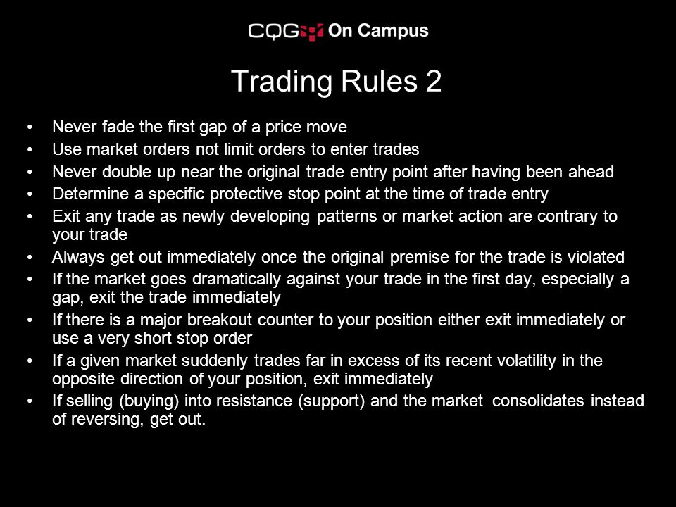 Trading Rules 2 Never fade the first gap of a price move