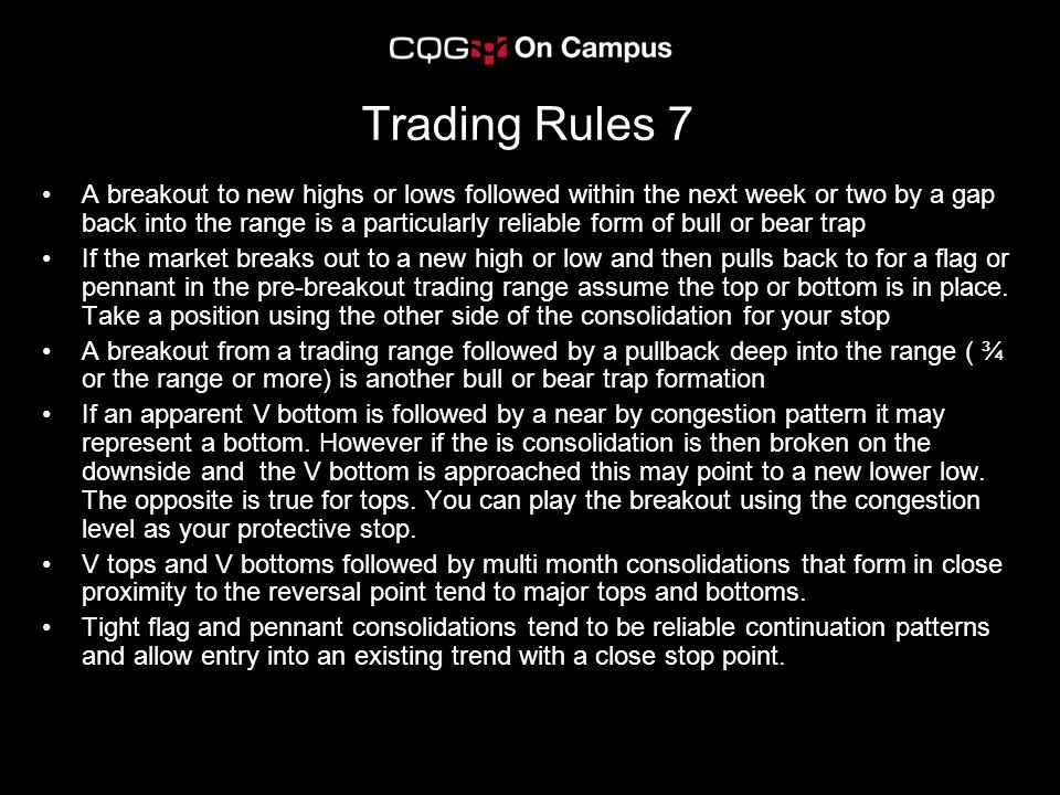 Trading Rules 7