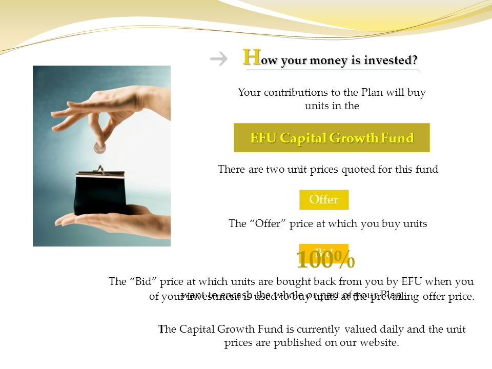 How your money is invested EFU Capital Growth Fund